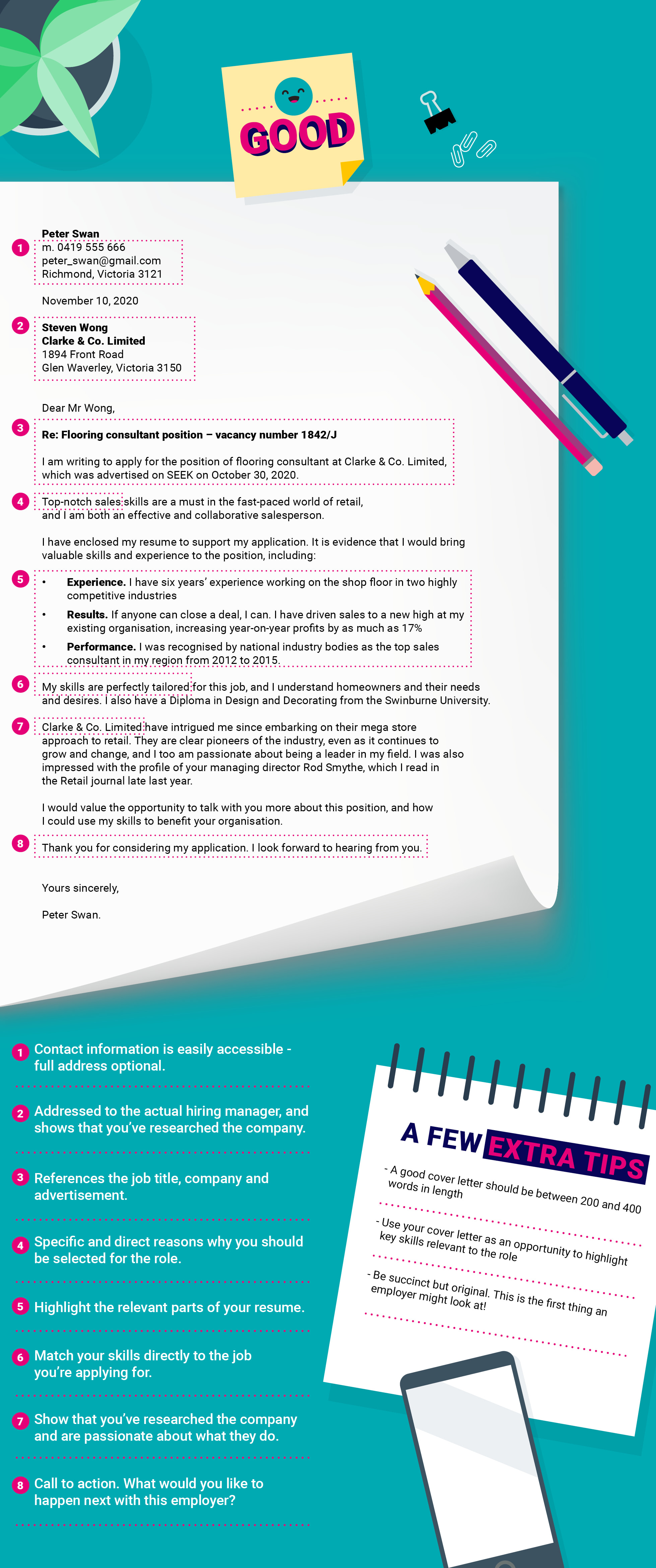 Examples Of What Makes A Good Cover Letter Versus A Bad One Seek Career Advice